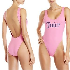 Juicy Couture Swim - JUICY COUTURE Hot Pink One Piece Swim